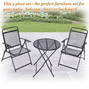 Winston Porter Strickler Patio 3 Piece Bistro Set