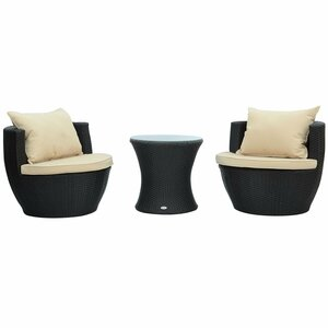 Johnathan 3 Piece Lounge Seating Group with Cushion