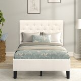 Davonda Twin Tufted Low Profile Platform Bed by Latitude Run®