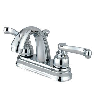 Kingston Brass Vintage Centerset Bathroom Faucet with ABS Pop-Up Drain