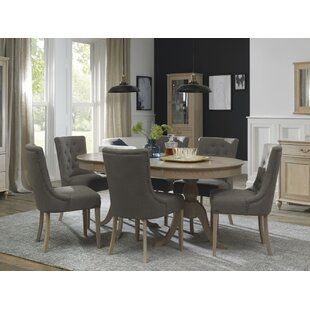 Cecile 7 Piece Extendable Solid Wood Dining Set Canora Grey