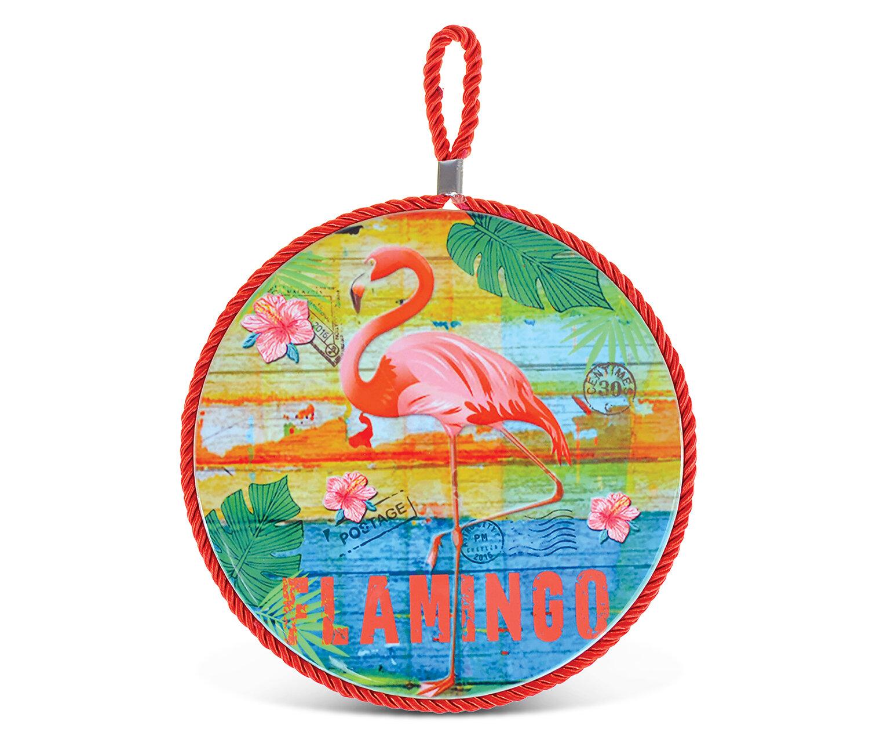 Cota Global Puzzled Ceramic Tropical Pink Flamingo Kitchen Pot Holder Wayfair
