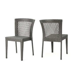Emrich Outdoor Wicker Patio Dining Chair (Set of 2)