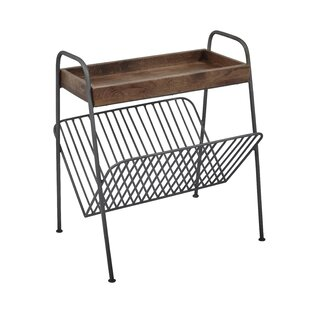 Mcclean Wood and Metal Tray Table by Gracie Oaks