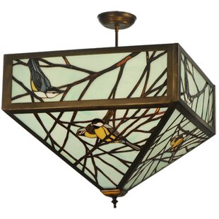 Backyard Friends 4-Light Semi-Flush Mount by Meyda Tiffany