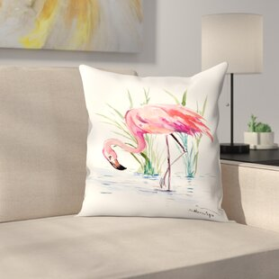 Suren Nersisyan Flamingo Throw Pillow