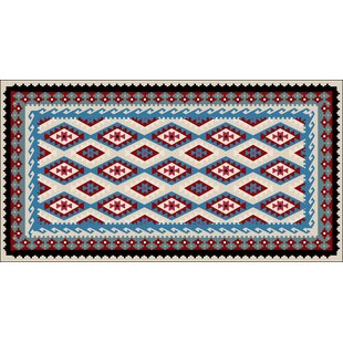 Reitz Blue/Red Indoor/Outdoor Area Rug