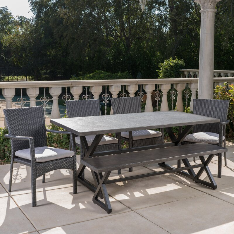 Breakwater Bay Netherby 6 Piece Dining Set With Cushions