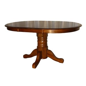 Stratton Solid Oak Extendable Dining Table by Darby Home Co