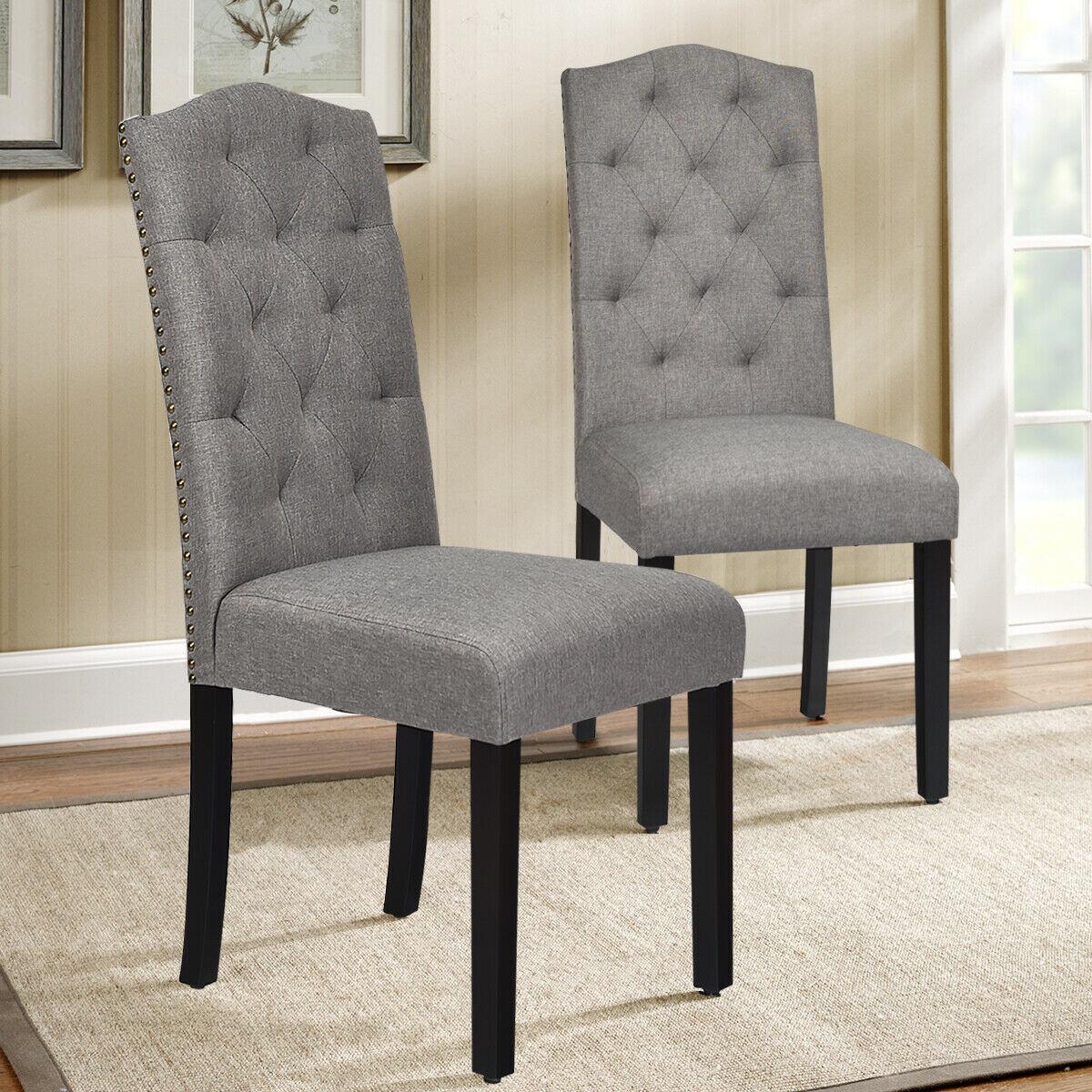 Red Barrel Studio Eastport Tufted Linen Upholstered Parsons Chair Wayfair