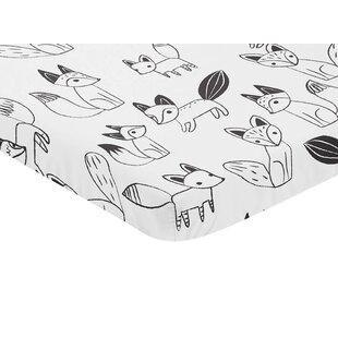 Fox Mini Fitted Crib Sheet BySweet Jojo Designs