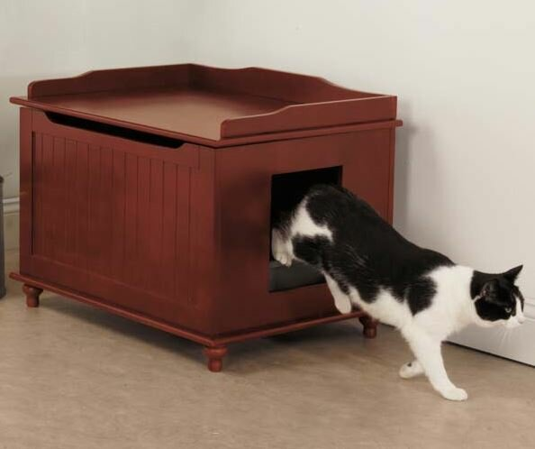 Meow Town Litter Box Enclosure & Meow Town Meow Town Litter Box Enclosure u0026 Reviews   Wayfair Aboutintivar.Com