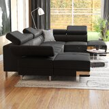 Adira 133 Faux Leather Sleeper Sectional by Orren Ellis