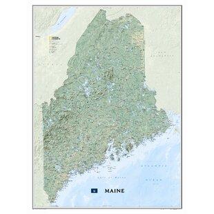 Map Of Maine Wayfair