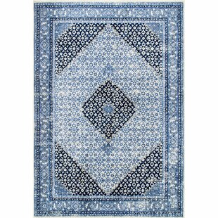 Affordable Price Chatteris Blue/Black Area Rug By World Menagerie
