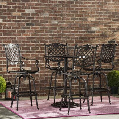 Richwood 5 Piece Bar Height Dining Set by Fleur De Lis Living Cool