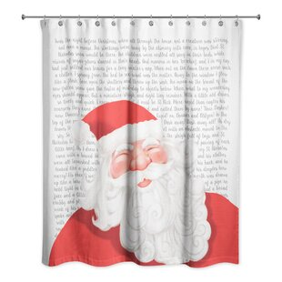 Twas the Night Before Santa Single Shower Curtain