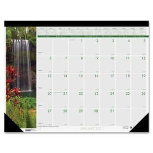 House of Doolittle Waterfalls Desk Pad Calendar