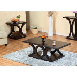 Winston Porter Cavitt Wooden 2 Piece Coffee Table Set