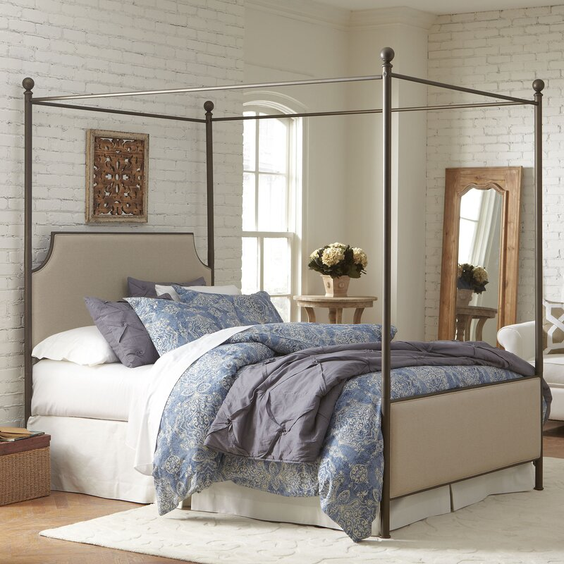 Willison Bedroom Collection Upholstered Canopy Bed