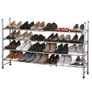 Affordable 4 Tier Expandable 24 Pair Shoe Rack By Rebrilliant