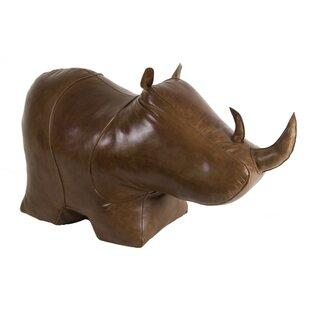 World Menagerie Granville Rhino Leather Standard Ottoman