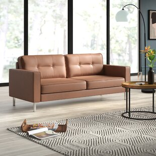 Price comparison Lopp Modern Solid Print Sofa by Mercury Row Reviews (2019) & Buyer's Guide