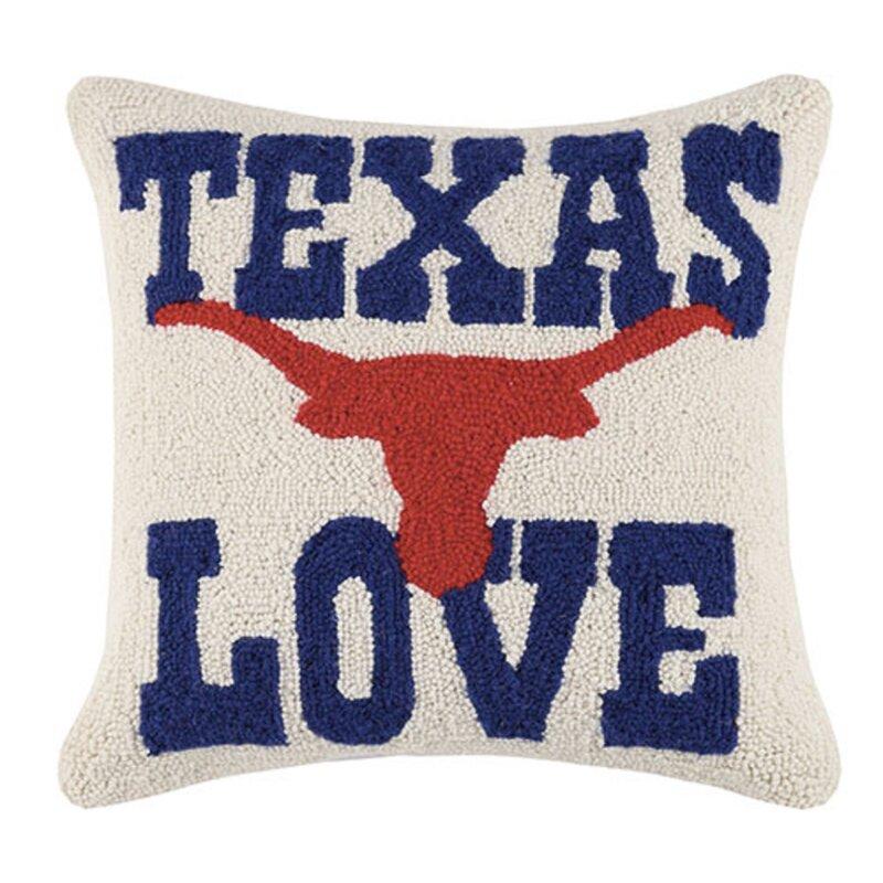 Loon Peak Palmyra I Love Texas Wool Throw Pillow Wayfair