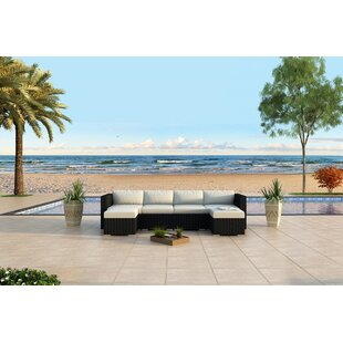 Harmonia Living Urbana 6 Piece Sunbrella Sectional Set with Cushions