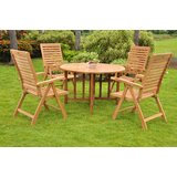 Fredrick Luxurious 5 Piece Teak Dining Set