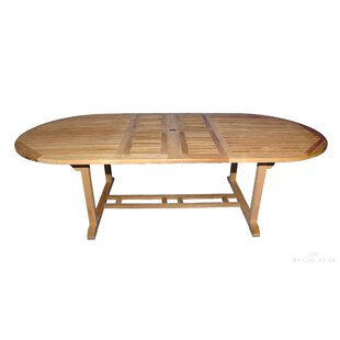 Double Extendable Teak Dining Table