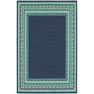Low Prices Kailani Navy / Green Indoor / Outdoor Area Rug Beachcrest Home