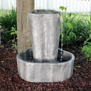 Loon Peak Waller Resin Spiraling Tower Electric Outdoor Water Fountain