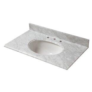 Marble 25 Single Bathroom Vanity Top By Cahaba