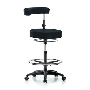 Height Adjustable Dental Stool With Procedure Arm And Foot Ring by Perch Chairs & Stools Bargain