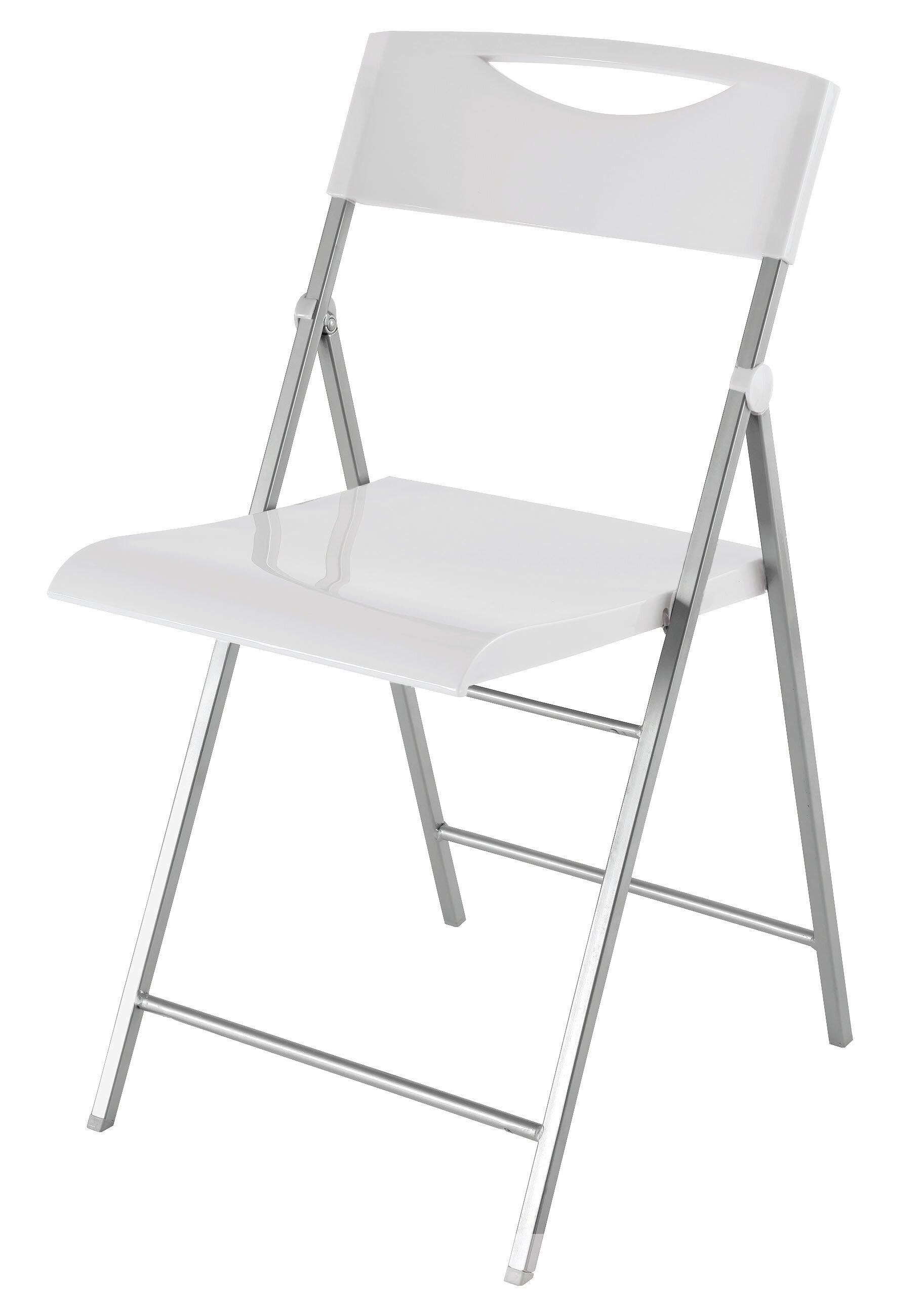 Alba Smiling Metal Folding Chair & Reviews