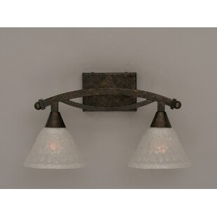 Red Barrel Studio Eisenhauer 2-Light Glass Shade Vanity Light
