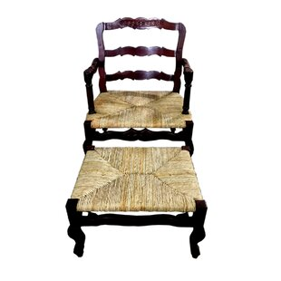 French Lounge Chair And Ottoman Set