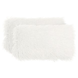 Raffin Decorative Faux Fur Lumbar Pillow (Set of 2)