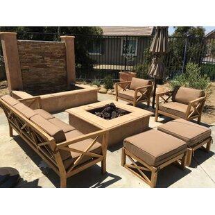 Trijaya Living LA 5 Piece Teak Sunbrella Sofa Set with Cushions