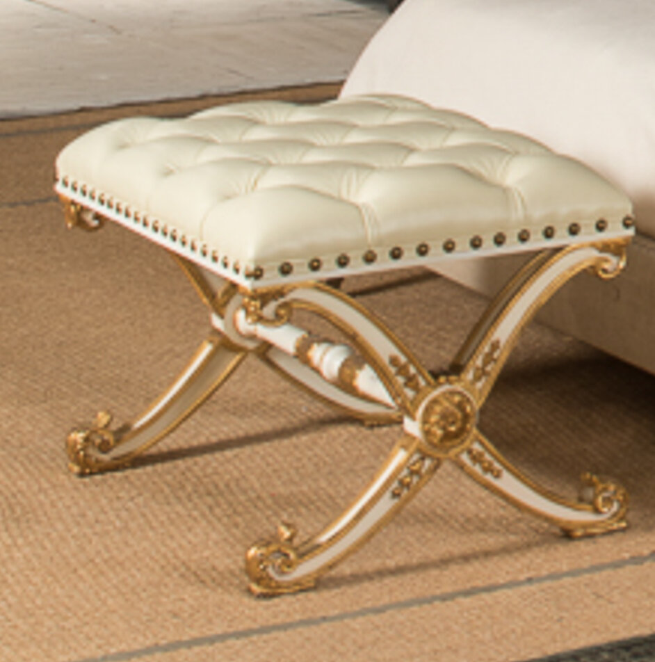 Glamour Vanity Bench By Sarreid Ltd
