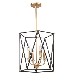 Harmony 4-Light Geometric Chandelier by Artcraft Lighting