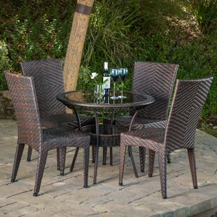 Tulley 5 Piece Dining Set by Highland Dunes