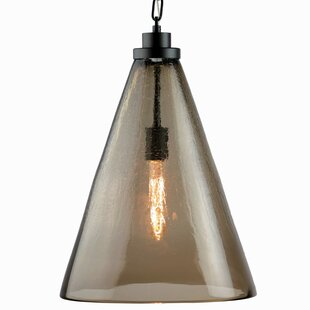 1-Light Cone Pendant by Viz Glass