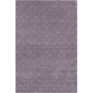 Read Reviews Borset Hand Tufted Wool Purple/Gray Area Rug By Mercer41