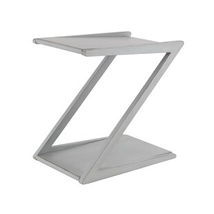 Comparison Rempe Modern Z-Shaped End Table by Wrought Studio