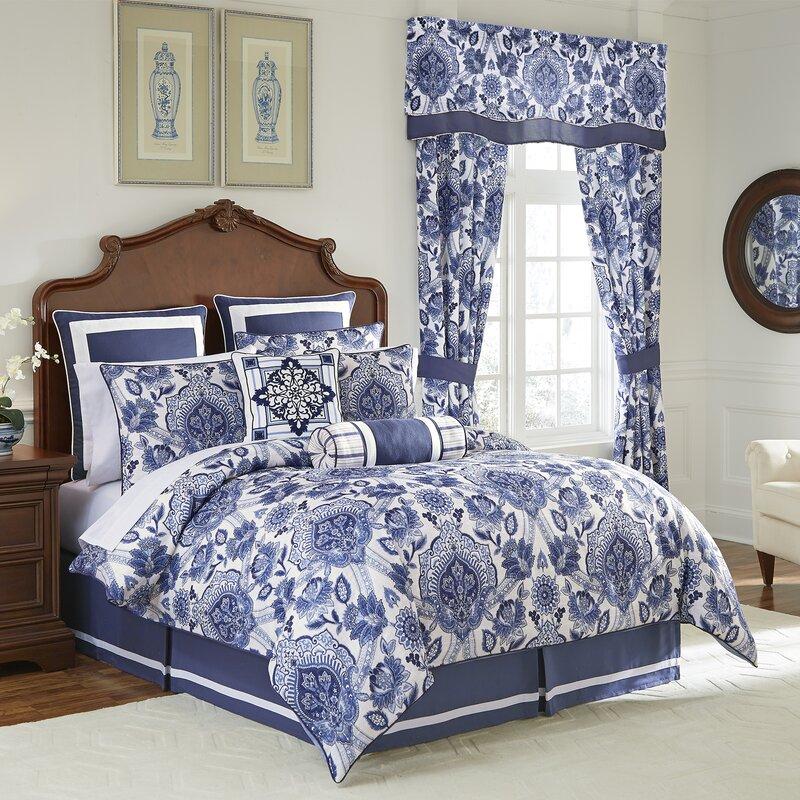 Croscill Leland Comforter Set Navy