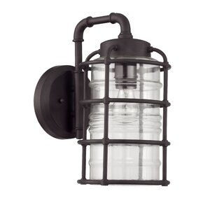 Aario 1 Light Wall Lantern by 17 Stories