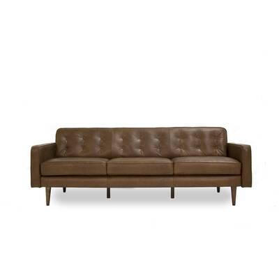 Corrigan Studio Trevor Mid Century Modern Leather Sofa Wayfair