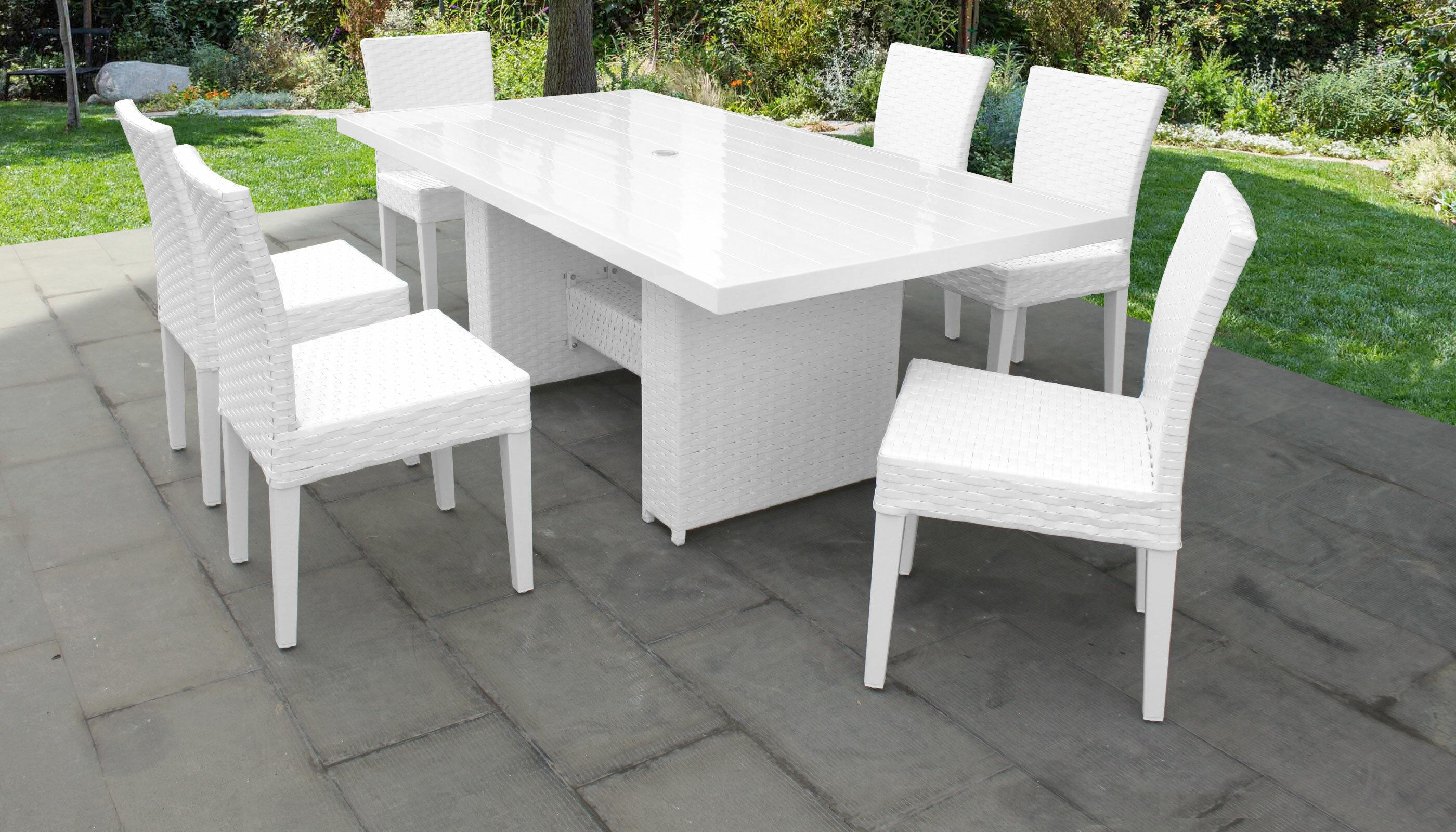 TK Classics Monaco 7 Piece Outdoor Patio Dining Set With Cushions | Wayfair